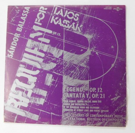 Sándor Balassa - Requiem For Lajos Kassák Op.15. LP (NM/VG)