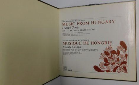 Csángó Songs - Music from Hungary LP (G+,VG/VG)
