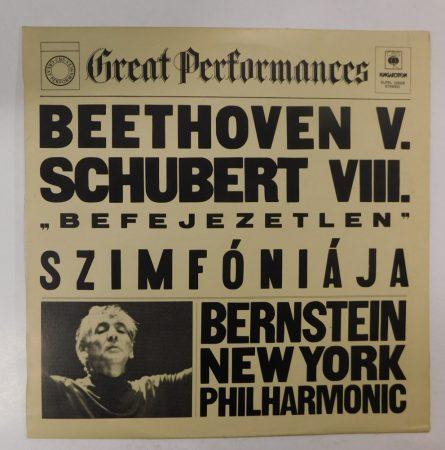 """Bernstein - Beethoven V., Schubert VIII. """"Befejezetlen"""" Szimfóniája LP(EX/VG+)HUN"""