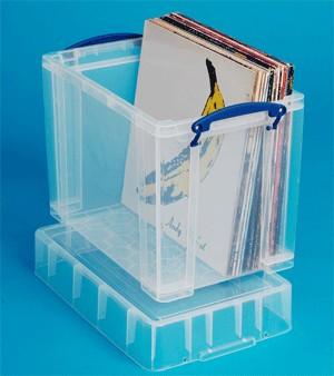 Műanyag tárolódoboz 50db nagylemezhez - Really Useful 19XL