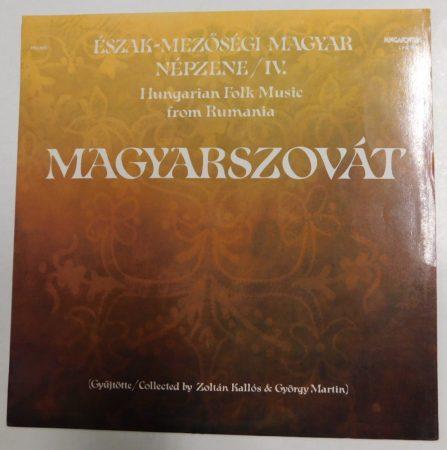 Észak-mezőségi magyar népzene - Magyarszovát LP (VG+/VG+) HUN