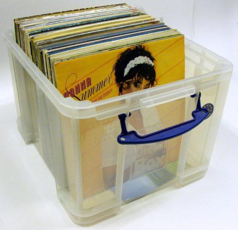Műanyag tárolódoboz 95db nagylemezhez - Really Useful 35XL / 35CXL