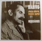Mensáros - Babits: Jónás Könyve - Verses Napló LP (VG/VG+)