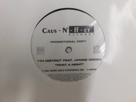 7th District Feat. Janine Cross - What A Night (12 inch VG+)