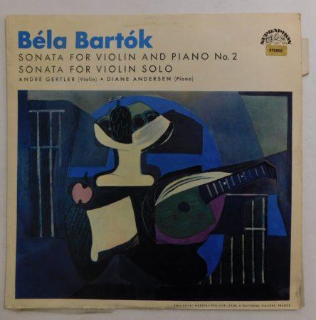 B. Bartók, A. Gertler, D. Anderson - Sonata For Violin And Piano No 2/Sonata For Violin Solo LP (VG+/VG+) CZE