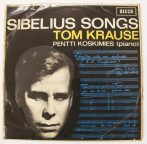 Sibelius: songs / Tom Krause - Pentti Kosmikes Lp (EX/VG) UK