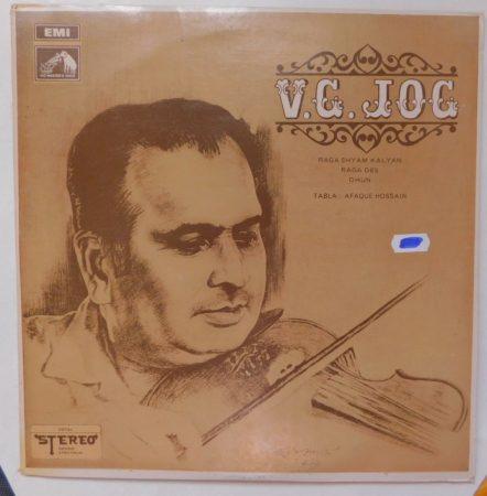 V. G. Jog - Raga music on Violin LP (EX/VG) IND