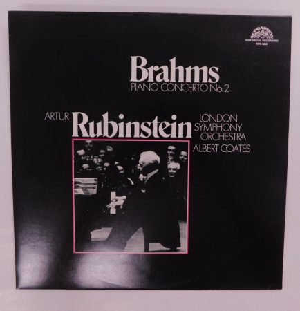 Brahms, A. Rubinstein, London Symphony Orchestra, A. Coates - Piano Concerto No.2 LP (NM/EX) CZE