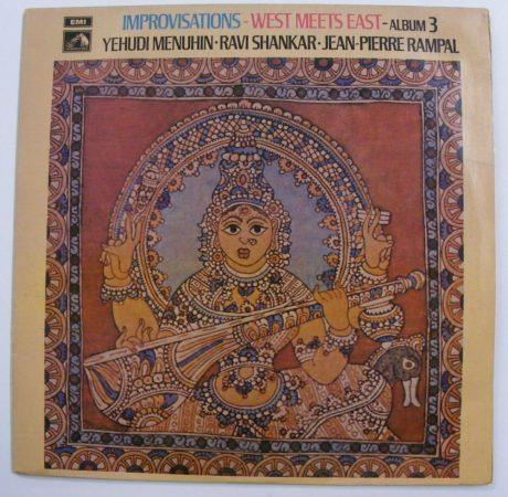 Improvisations - West Meets East 3 / Menuhin - Shankar - Rampal LP (EX/VG+) IND