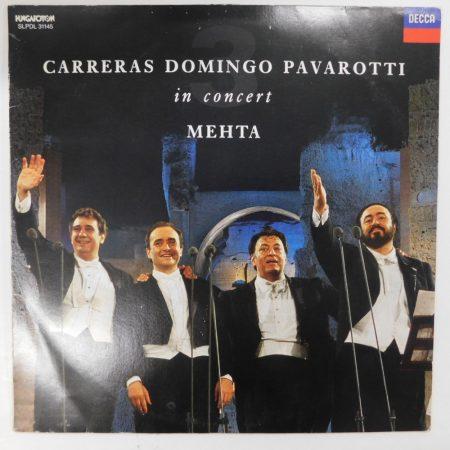 Carreras, Domingo, Pavarotti, Mehta - In Concert LP (NM/VG) HUN