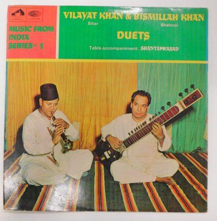 Vilayat Khan & Bismillah Khan - Duets LP (VG+/VG) INDIA