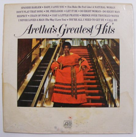 Aretha Franklin: Arethas Greatest Hits LP (EX/VG) IND