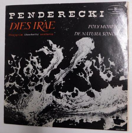 Penderecki - Dies Irae LP /VG+/VG+) POL