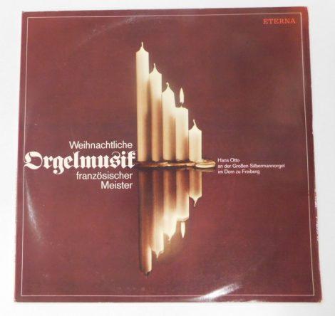 Hans Otto - Weihnachtliche Orgelmusik Französischer Meister LP (NM/VG+) karácsonyi