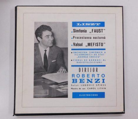 "Liszt -Simfonia""Faust""/Procesiunea Nocturna/Valsul""Mefisto""2LP(EX/VG+)ROM."