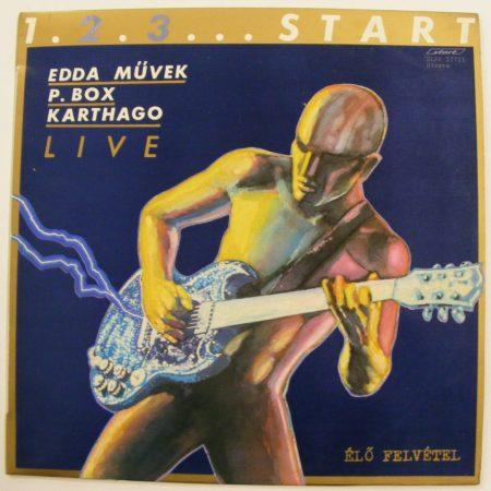 1.2.3...START LP - EDDA Művek, P. Box, Karthago Live (VG+/VG+)