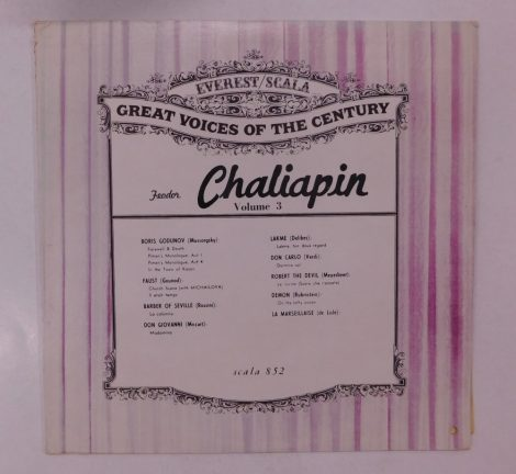 Chaliapin - Great Voices Of The Century Volume 3 LP (VG+/G+) USA