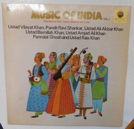 Music of India Vol. 1 - Vilayat Khan - Shankar - Akbar Khan LP (NM/EX) IND