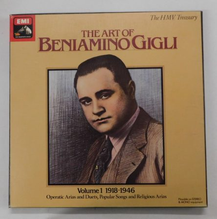 The Art Of Beniamino Gigli - Volume 1 (1918-1946) 3xLP (EX/EX) UK.