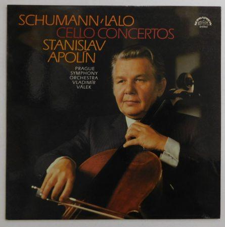 Robert Schumann - E. Lalo, Prague Symph. Orch. S. Apolín, V. Válek - Cello Concertos LP (NM/EX) CZE