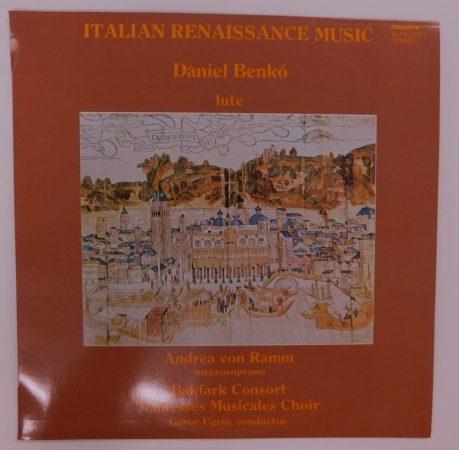 Benkő, Ramm, Consort, Ugrin - Italian Renaissance Music LP (NM/NM)