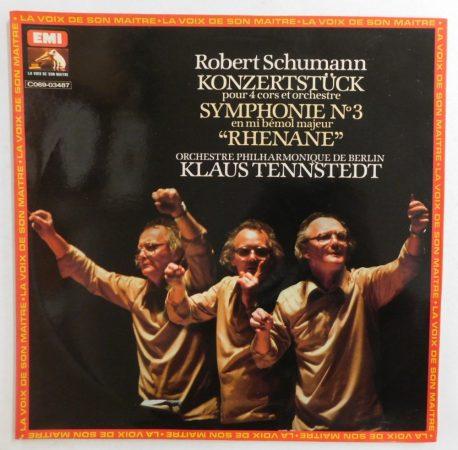 Schumann, K. Tennstedt, Berliner Philharm. - Sinfonie Nr. 3 Es-dur Rheinische Konzertstück Op.86 LP (VG+/VG+) FRA