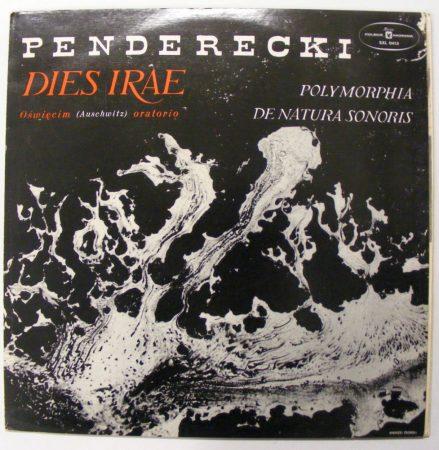 Krzysztof Penderecki: Dies Irae / Polymorphia / De Natura Sonoris LP (VG+/VG+) POL