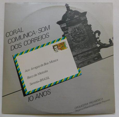 Coral Comunica-som Dos Correios - Orquestra Pro-musica LP + inzert (EX/VG, brazil)