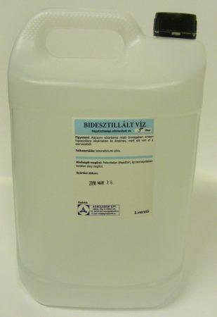 Kétszeresen desztillált víz - 5L - bidesztillált víz