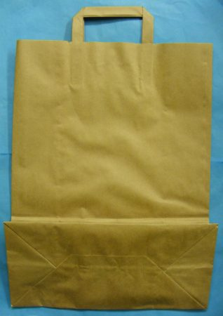 Szalagfüles papírtáska - hanglemezekhez is - 32x41cm+12cm