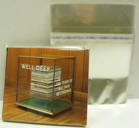 Katta visszazárható borítóvédő fólia műanyag CD tokokhoz - japán - 146x139mm+37mm zárófül