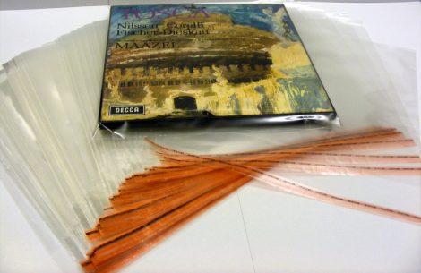 LP Box visszazárható borítóvédő fóliák dobozos kiadványokhoz 5 féle méretben