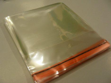 CD tok védőfólia zárható (dupla/tripla vagy vastagabb tokokhoz) 169 x 138mm + 64mm zárófül / 40 mikron