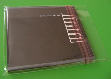 CD tok védőfólia zárható BOPP (szimpla műanyag tokokhoz) - 139 x 150mm + zárófül