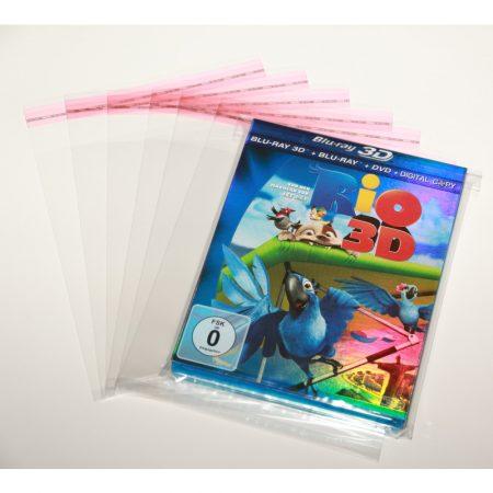 Blu-Ray - Zárható védőfólia kartonborítós tokokhoz - 155x171 mm + 38mm (30 mikron)