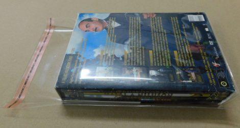 DVD box - zárható védőfólia - 178x195mm + 70mm-es zárófül