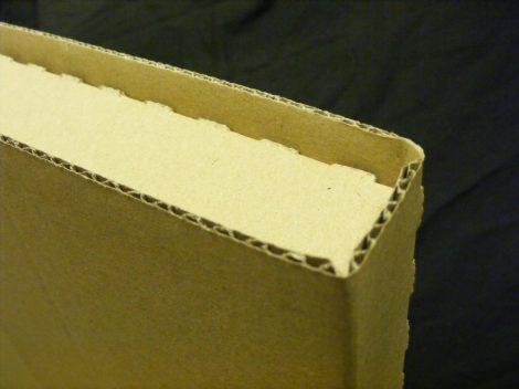 LP / 12inch szállítókarton 1-8db. lemezhez, rövid élvédővel, dupla kartonréteggel