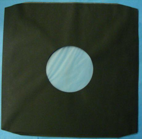 LP fekete tasak antisztatikus fóliával 80gr. - vágott sarkokkal
