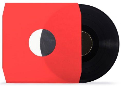 LP tasak antisztatikus fóliával piros vágott 80gr.