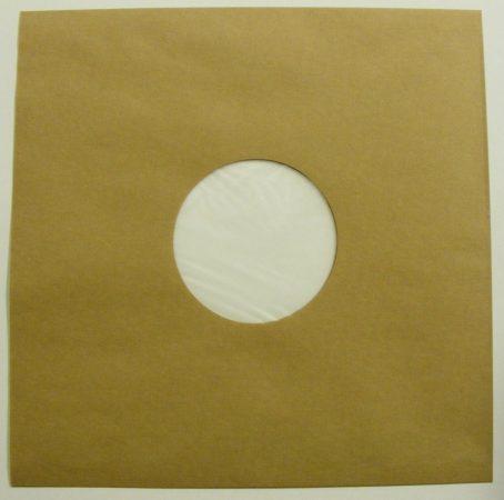 LP tasak antisztatikus fóliával - barna / dohány - 70gr.