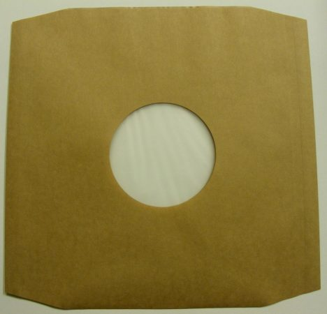 LP tasak antisztatikus fóliával, vágott sarkokkal - barna / dohány - 70gr.