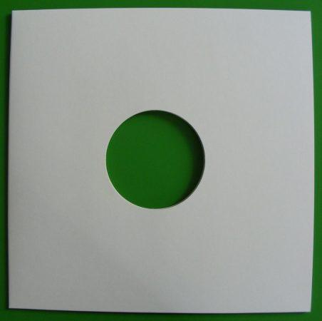 LP / 12inch kartonborító fehér, lyukas