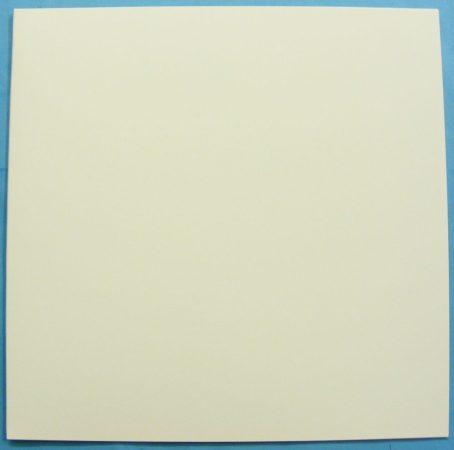 LP/12inch kartonborító teli fehér 315x315x2mm