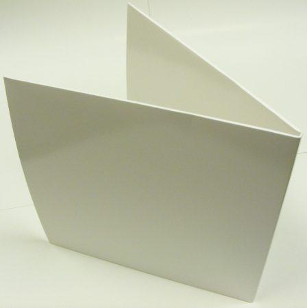 LP/12inch kartonborító dupla LP-khez fehér kinyitható gatefold - Deluxe