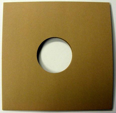 LP/12inch kartonborító lyukas barna / dohány - 315x315x2mm