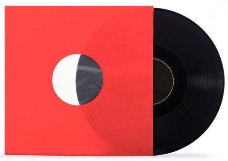 LP tasak antisztatikus fóliával piros 80gr.