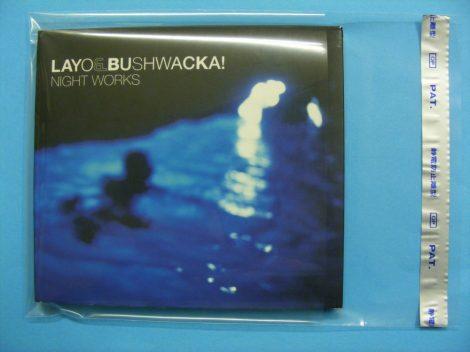 NAGAOKA TS522/3 borítóvédő fólia CD tokokhoz - visszazárható - 144x138mm + 64mm