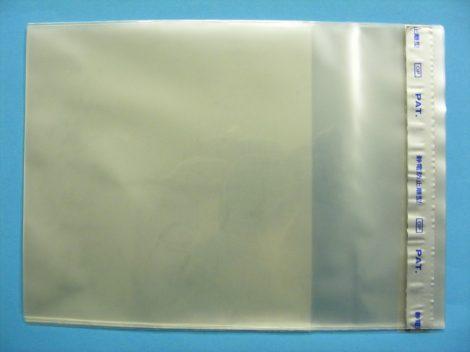 NAGAOKA TS522/3 borítóvédő fólia CD tokokhoz visszazárható - 20db-os csomag - 144x138mm + 64mm