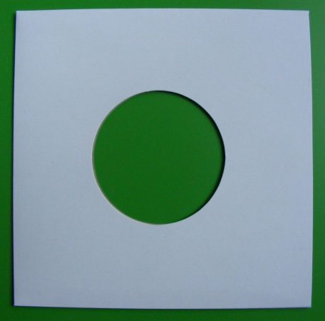 7inch kislemez kartontok - fehér - 185 x 185mm