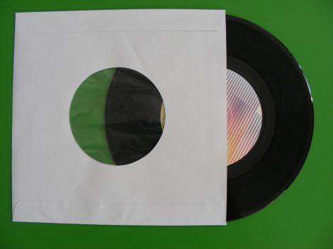 7inch kislemez papírtasak antisztatikus fóliával - fehér - 180 x 180mm